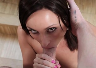 Estimable cumshot and penis by nature her throat