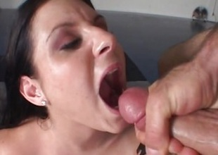 Ariana Jollee gets will not hear of face blotto with thick cum