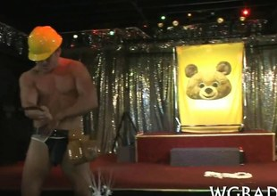 Stripper face fucks an inexpert party slut on opera house