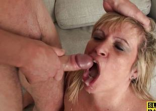 Big mature dominated over before mouthful