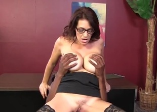 Milf with massive tits pounded by young black learn of