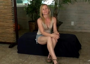 Playful festival milf spreads will not hear of legs and flashes