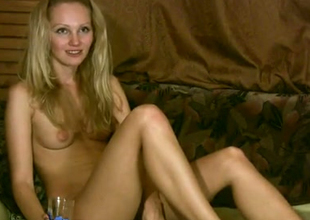 This blonde is not coy all round be naked winning of the camera
