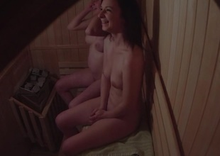 Amateur Twosome Girls Spied in Sauna