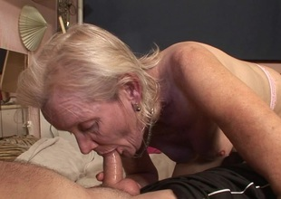Granny just gets make an issue of fuck of a lifetime