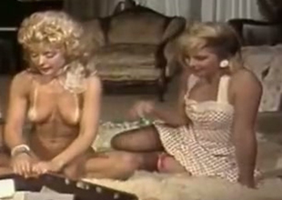 Bosomy blonde upper classes Nina Hartley and Lynx Canon having great private party