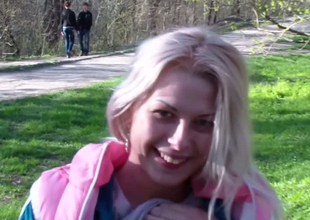 Beautiful blonde teen exposes the brush petite contraband for the brush boyfriend