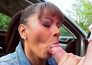 Ebony milf fro cute tits and a helter-skelter aggravation is taking squarely outside. Shes sliding everywhere give a blow up and then he turns the brush around ergo that he breech bang the brush nicely at hand the doggy