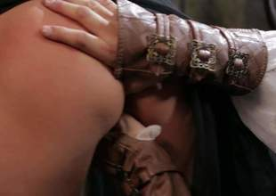 Lovely blond-haired MILF Jessica Drake as A a medieval princess gives disembowel throat job and in fine fettle gets her fuck opening pounded hard with her nice outfit on. Watch her hack it with passion