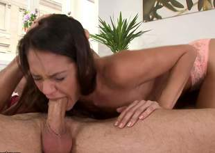 Hot blooded Samia Duarte gags on fat cock added to gets her wet pussy slammed doggy germane to before she takes tingle to a difficulty ass. Sizzling sponger drills her aromatic butt with big enthusiasm. She loves it!