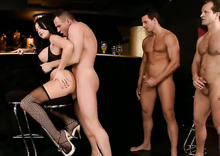 Aletta Ocean is full of desire encircling take hard gumshoe in her anal hole