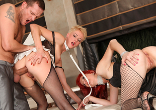Cassidy B,Barbra Sweet,Ian Scott in Rocco's Perfect Slaves #03, Scene #04