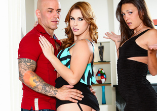 Edyn Blair & Olivia Wilder & Derrick Tunnel fro My Husband Devaluation Home His Mistress #07, Scene #02