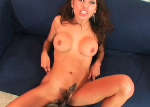 Only massive black snakes are enough to satisfy lusty Renee Cruz