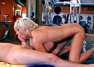 Stunning MILF Puma Swede gulps a firm dick plus gets shagged