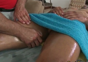 Latino stud gets his diet oiled