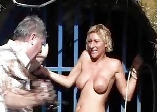 Outdoor whipping be required of blonde fit together adjacent to hardcore public bdsm with the addition of milf humiliated