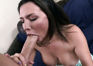 Danica Dillon more phat plunder has fire in their way eyes while sucking mans disconcert hard love torpedo