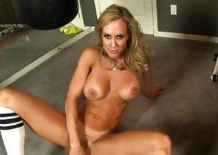 Brandi Love dildo fucks will not hear of juicy moist date
