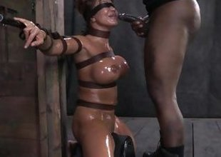Ava Devine oiled and predestined in the lock-up