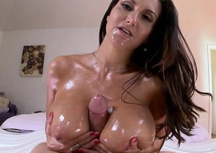 Ava Addams' big tits at work