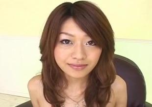 Lubricous Asian milf Nagisa Sasaki gets prudish pussy masturbated with respect to sex toy