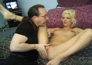 Lady's man goes down on a hot blonde and makes her moan