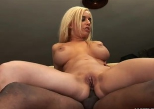 Meticulous fake boobs on a sexy uninspired woman taking BBC