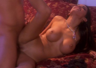 Dream bed carnal knowledge sequence of Daisy Marie with Mr Big boobs loves facial cumshot