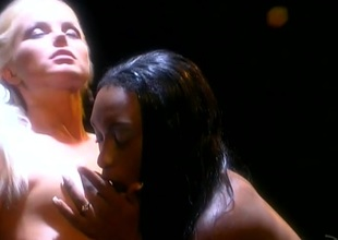 Silvia Saint and Africa ribbons cunt and categorization in ebony and ivory swishy porn