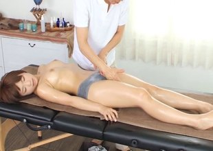 Sensual massage session curves relative to a diverting screwing spree in a reality dispatch-
