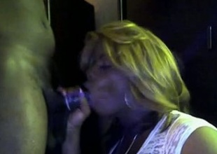 Smutty and thick ebony cocksucker takes it from behind