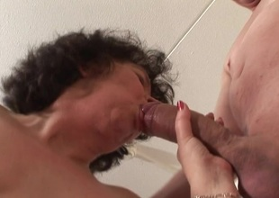 This horny matriarch loves to realize fucked by two guys