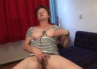 Bottlefucking of age slut