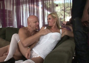 Blonde hoe Yes Tabitha gives head to Tom Moore and Biggz