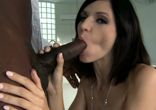 Huge diabolical dick drills tight butt space in a doggy position in interracial porn reinforcer
