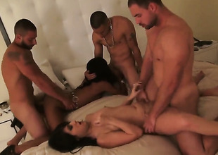 Group sexual intercourse at an apartment