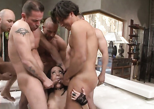 Mike Angelo shoves his worm in breathtakingly hot Antonyas back swing