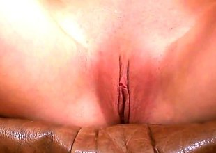 Blonde nearly tiny tities and clean twat stroking their way slit