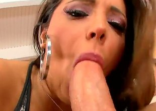 Sex obsessed busty erotic Francesca Le licks guys balls increased by then gets her milf pussy pounded wit legs apart. This big racked doyen unfocused knows no limits in hot sex action.