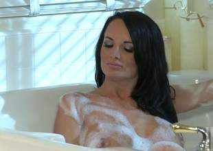 Alektra Blue and Kirsten price are perfect bodied babes with slim legs and big boobs. They show every inch of their awesome wet bodies as they essay lesbian sex in the bathroom