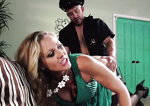 Will Powers whips out his meat pole at hand fuck amazingly sexy Julia Anns throat