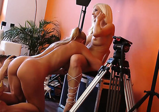 Silvia Saint cant wait to be tongue fucked her lesbian sex partner Stacy Silver