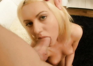 Blonde Vania has great cock sucking experience and expands it here hard dicked profitability buddy