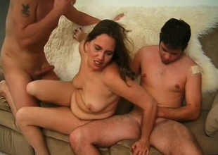 Three elderly sluts gets fucked by a clamp be beneficial to young studs in an orgy