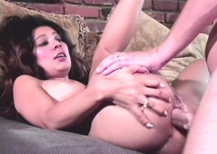 Superhuman brunette spreads her ass cheeks together with gets backyard beefed
