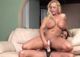 Two curvy lesbian bitches are ready for super hot toying session