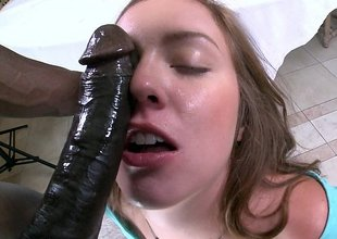 White catholic ass fucked by black dick