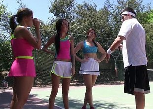 Summer camp tennis sluts