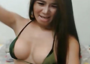 Busty Shemale Masturbate on Webcam
